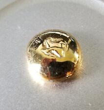 10 gram Gold Button (actual 8.50oz) Hand Cast Pure .990 See Photos