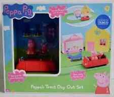 Peppa Pig 'Peppa's tratar día' Play Set (carretera/coche/tiendas/figuras) edad 3+ * Nuevo *