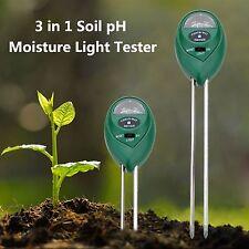 Suelo de jardín de 3 in1 pH Probador Medidor de Temperatura LCD profesional la humedad la luz del sol