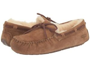Women's Shoes UGG DAKOTA Suede Indoor/Outdoor Moccasin Slippers 1107949 CHESTNUT