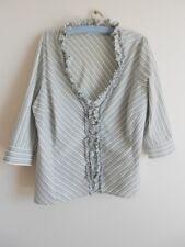 Blue & Cream Striped Urbane Woman Plus Size Shirt Size 20 Top