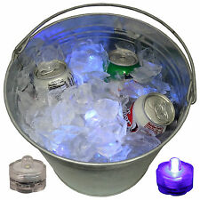 Holiday Party Champagne Beverage Ice Bucket Glow Light Led Submersible 12 Purple