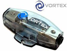 VORTEX v-102 AUTO AMP AFS MINI ANL Fuse Holder con 4/8 Gauge input FINITURA SATINATA