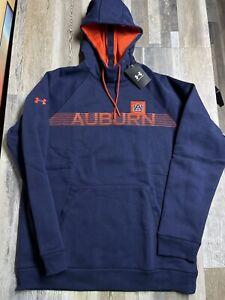 New Under Armour Auburn Tigers Campus Fleece Hoodie SZ LARGE NWT $70