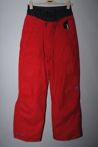 Nike Acg Storm Fit 5 Ladies Red Ski Snowboarding Trousers Salopettes Size XL