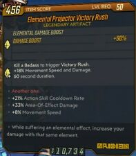 PC - Elemental Projector Victory Rush Cooldown/Movement/AoE - Borderlands 3 BL3