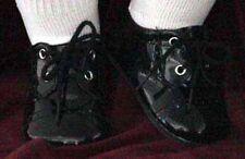 "NIP black patent tie dress shoes for Pat Secrist Apple Valley 22"" dolls, others"