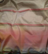 "Silk Taffeta Fabric - Pink & Olive STRIPES 54"" By The Yard"