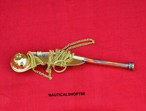 Marine Brass Boatswain Navy Ship Bosun's Chain Whistle Christmas Gifting Item