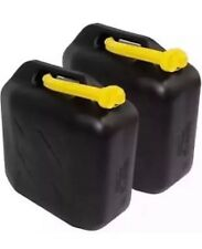 2x 10L Litre Jerry Can Petrol Diesel Fuel Water Storage Container Can/Spout UPVC