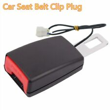 1x Car Seat Belt Clip Plug Adjustable Extender Safety Buckle W/Warning Cable