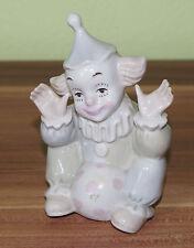 Schöne Dekofigur aus Porzellan Clown mit Ball - sitzend TOP!  (CC3)