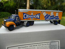 "DINKY MATCHBOX 1/87 YESTERYEAR MACK B61 TRACTOR TRAILER "" CHAMPION "" MIB"