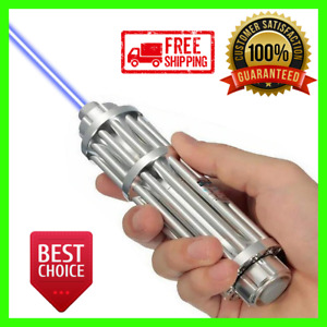 Forceful Blue Laser 10000m Torch 450nm Pointer Flashlight Focusable Burn Lazer