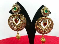 Indian Ethnic Bollywood Style Fashion Gold Bridal Jewelry Earrings Set