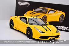Hot wheels 1:18 ELITE ferrari 458 SPECIALE yellow
