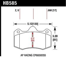 Hawk Performance HB585U.660 DTC-70 Brake Pads- Front fit Mclaren MP4-12C