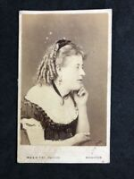 Victorian Carte De Visite CDV: Fry: Brighton: Risque Low Cut Dress: LEE: 1871