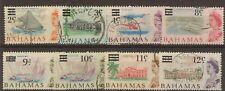 Bahamas:1966:Selection of Decimal Overprints.Used,