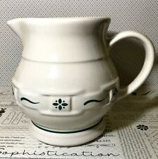 Longaberger Pottery Woven Traditions Heritage Green 1 qt Juice Pitcher-30431
