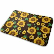 Creative Sunflowers Painting Indoor Outdoor Rug Anti-Slip Flannel Bath Mats DIY