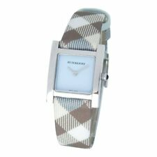 Blue Burberry Plaid Watch BU4312 Swiss Mother of Pearl w/box and papers RARE!