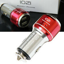 IOZI 6061 CNC Aluminum Alloy LED Dual USB 17W 3.4A Rapid Car Charger phone Red