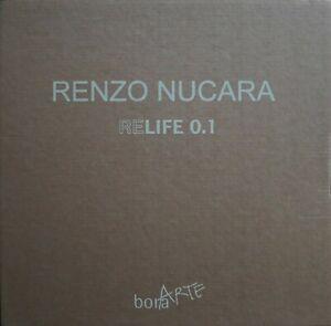 Renzo Nucara cofanetto originale RELIFE 0.1 con 3 serigrafie a collage 30x30