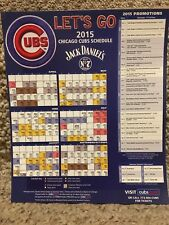 2015 CHICAGO CUBS MAGNET SCHEDULE JACK DANIELS SPONSORED - NEAR MINT