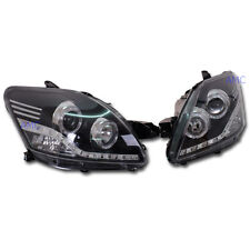 Projector LED Head Lamp Light Pair For 2007-2012 Toyota Vios Yaris Belta Sedan