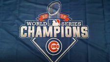 New Chicago Cubs 2016 World Series Champions 3x5 Blue Trophy Flag Deluxe Banner