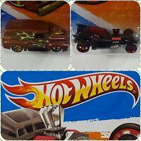 Hot Wheels - 2010 11 - Lot of 2 _ Fangula New Model Ford F-100 Heat Fleet Car 56