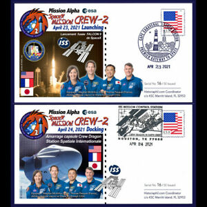 """ALPHA21-1/2 : 2 FDC  SpaceX Crew-2 launch+docking """"Mission Alpha 2021 PESQUET"""""""