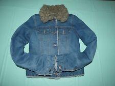 Abercrombie & Fitch Faux Fur Lined Jean Jacket , Womens size XS