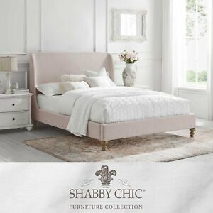 Linen Platform Bed with Button Tufted Headboard Bedroom King/Queen/Twin Classic