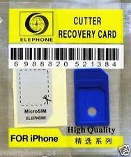 2 X Micro Sim Adapter +Schablone  für iphone 4  ipad 3G