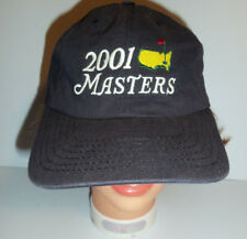 Masters hat 2001 golf tournament strapback cap logo Augusta blue American Needle