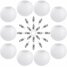 Vastar 10 Packs 12 Inch White Round Paper Lanterns , 20 Pack White LED Party ...