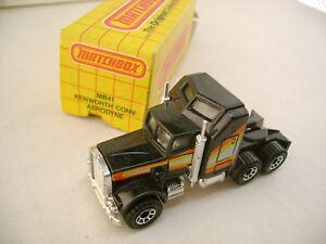 1981 MATCHBOX SUPERFAST #41 Negro Kenworth AERODYNE Camión Nuevo MIB