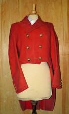 """Vintage Gents Wool Red Hunting Coat W/Tails Vale Of White Horse Hunt Buttons 36"""""""
