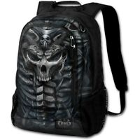 Spiral Direct SKULL ARMOUR Back Pack With Laptop Pocket Horror/Skulls/Rock/XMAS