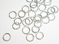 Jump Rings 6mm 18g Twisted Silver plated findings 100 pieces jump rings (a7042)