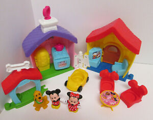 Fisher Price Little People Magic of Disney Mickey and Minnie's House Playset