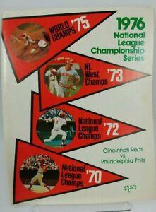 Original 1976 NLCS Program Riverfront Stadium - Unscored
