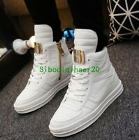 Fashion Mens High Top Casual Lace Up Sneakers Shoes Board Athletic Shoes flat