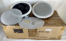 Solus GRC6 Speakers In Ceiling Pair White 6.5 Inch New Old Stock NOS OPEN BOX