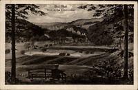 Bad Thal Thüringen alte Postkarte 1921 Blick in das Erbstromthal Mann auf Bank