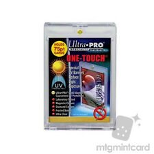 5 ULTRA PRO One Touch Magnetic Holders 75pt UV Gold Magnet New