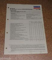 Inspektionsblatt Yamaha Dt 50 R Tipo 3MN Anno 1990
