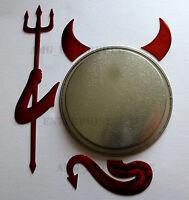 Red Chrome Effect Devil Badge Sticker for VW Transporter T2 T25 T3 T4 T5 Camper